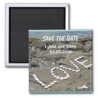 Love on the Beach Save the Date Refrigerator Magnets