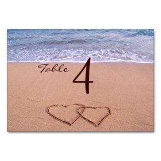 Love on the beach table cards
