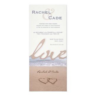 Love on the Beach Wedding Invitations