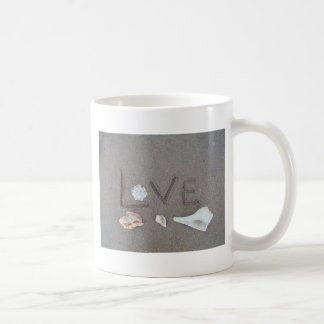 Love on the Beach with sea shells Coffee Mug