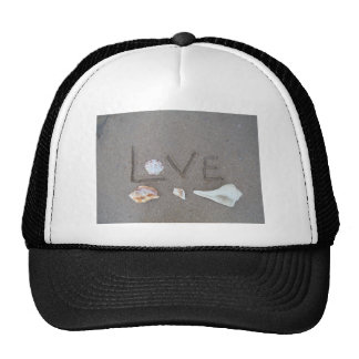 Love on the Beach with sea shells Mesh Hats