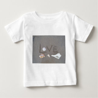 Love on the Beach with sea shells T Shirt