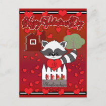 Love On The Farm Valentines Day Holiday Postcard