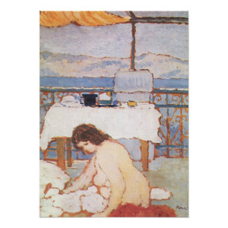 Love on the Terrace by Jozsef Rippl-Ronai Poster