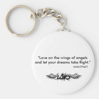Love on the wings... basic round button keychain