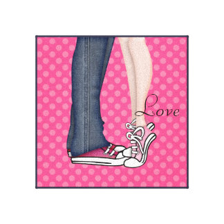 Love on Tippy Toes Canvas Print