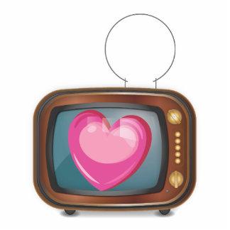Love on TV Standing Photo Sculpture