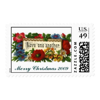 love-one-another2, Merry Christmas 2009 Postage Stamp