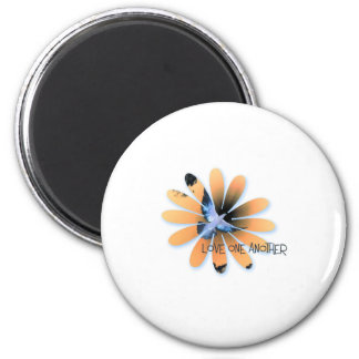 love one another-001 2 inch round magnet