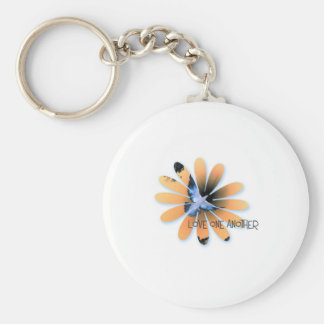 love one another-001 basic round button keychain