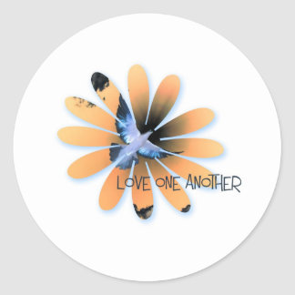 love one another-001 classic round sticker