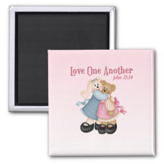 Love One Another 2 Inch Square Magnet