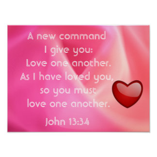 Love one another - art print