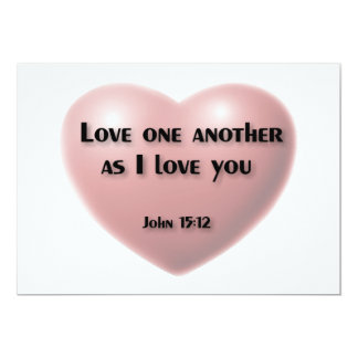 """""""Love one another as I love you"""" card Custom Announcements"""