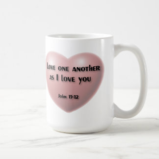 """Love one another as I love you"" Coffee mug"