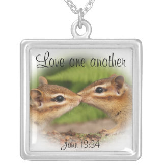 Love One Another Baby Chipmunks Necklace