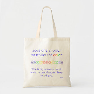 Love One Another (Bag - Blue) Tote Bag