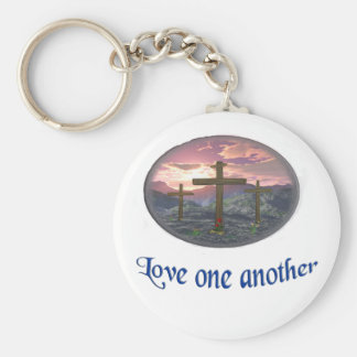 Love one another blue keychain