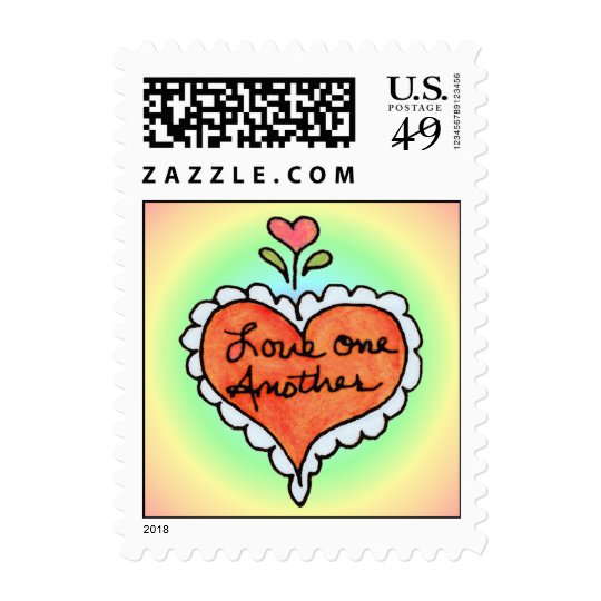 LOVE ONE ANOTHER by SHARON SHARPE Postage