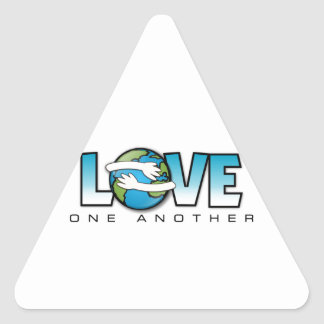 Love One Another Customize Product Triangle Sticker