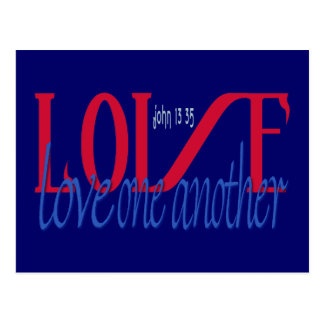 Love One Another Greetings Postcard