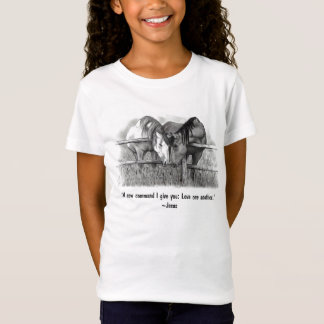 Love One Another: Jesus: Horses T-Shirt