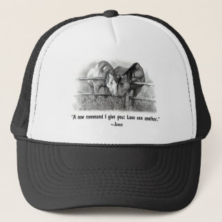Love One Another: Jesus: Horses Trucker Hat