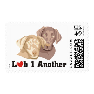 Love One Another Labrador Theme Postage Stamp