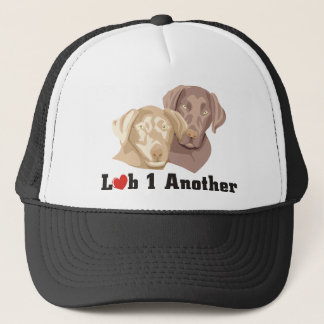 Love One Another Labrador Theme Trucker Hat