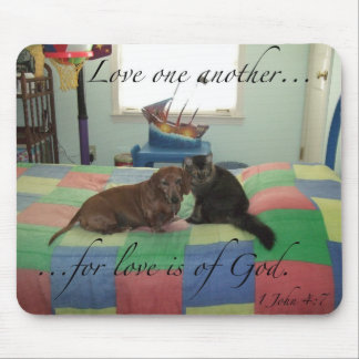 Love one another - Mouse Pad