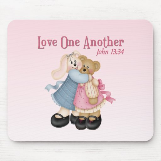 Love One Another Mouse Pads
