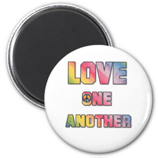 Love One Another Peace 2 Inch Round Magnet