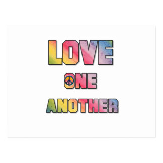 Love One Another Peace Postcard