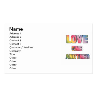 Love One Another Peace T-shirts and Gifts Business Card