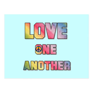 Love One Another Peace T-shirts and Gifts Postcard