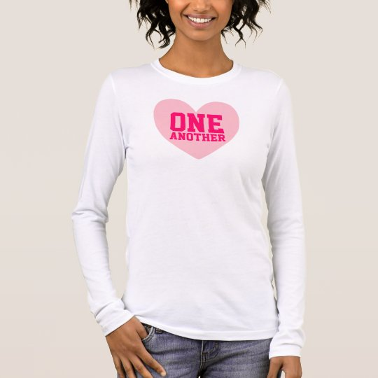 Love One Another Pink Heart Shirt