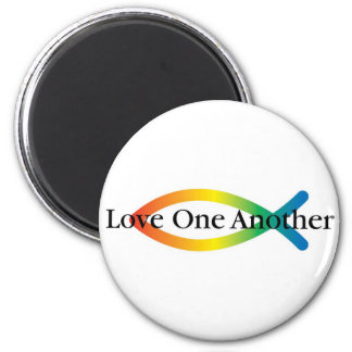 Love One Another Rainbow Fish magnet