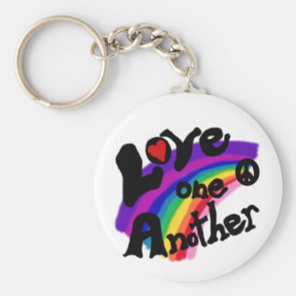 Love One Another Rainbow Key Chains