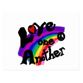 Love One Another Rainbow Postcard