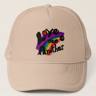Love One Another Rainbow Trucker Hat