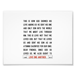Love One Another Scripture Photo Print