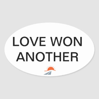 LOVE ONE ANOTHER OVAL STICKER