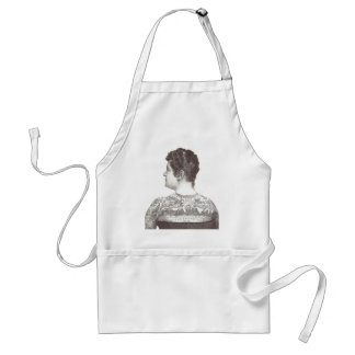 'Love One Another' Tattooed Victorian Woman Adult Apron