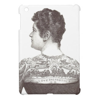 'Love One Another' Tattooed Victorian Woman iPad Mini Cover