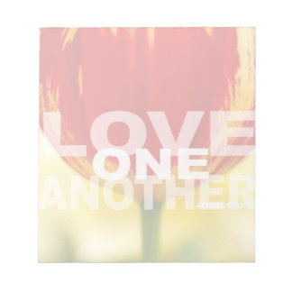 Love One Another Tulips Notepad