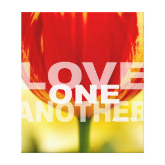 Love One Another Tulips Wrapped Canvas