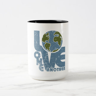 Love One Another Two-Tone Coffee Mug