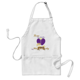 Love One Another Wholeheartedly-Customize Adult Apron