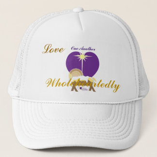 Love One Another Wholeheartedly-Customize Trucker Hat