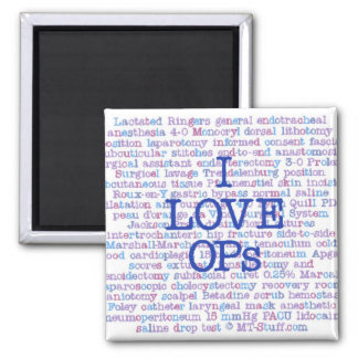 Love OPs 2 Inch Square Magnet